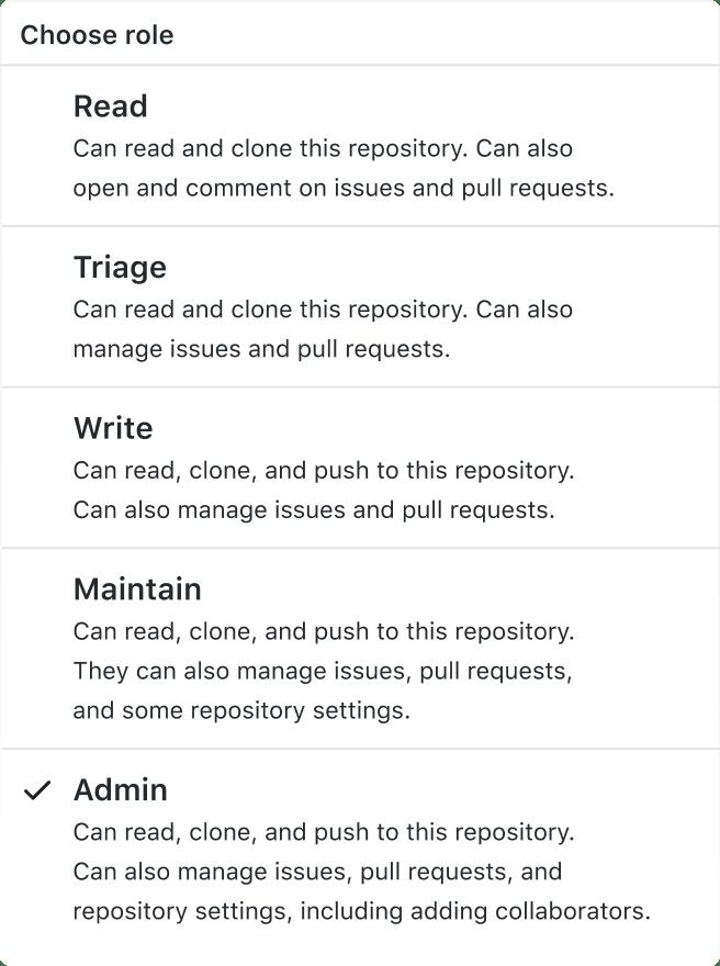 GitHub Member Roles