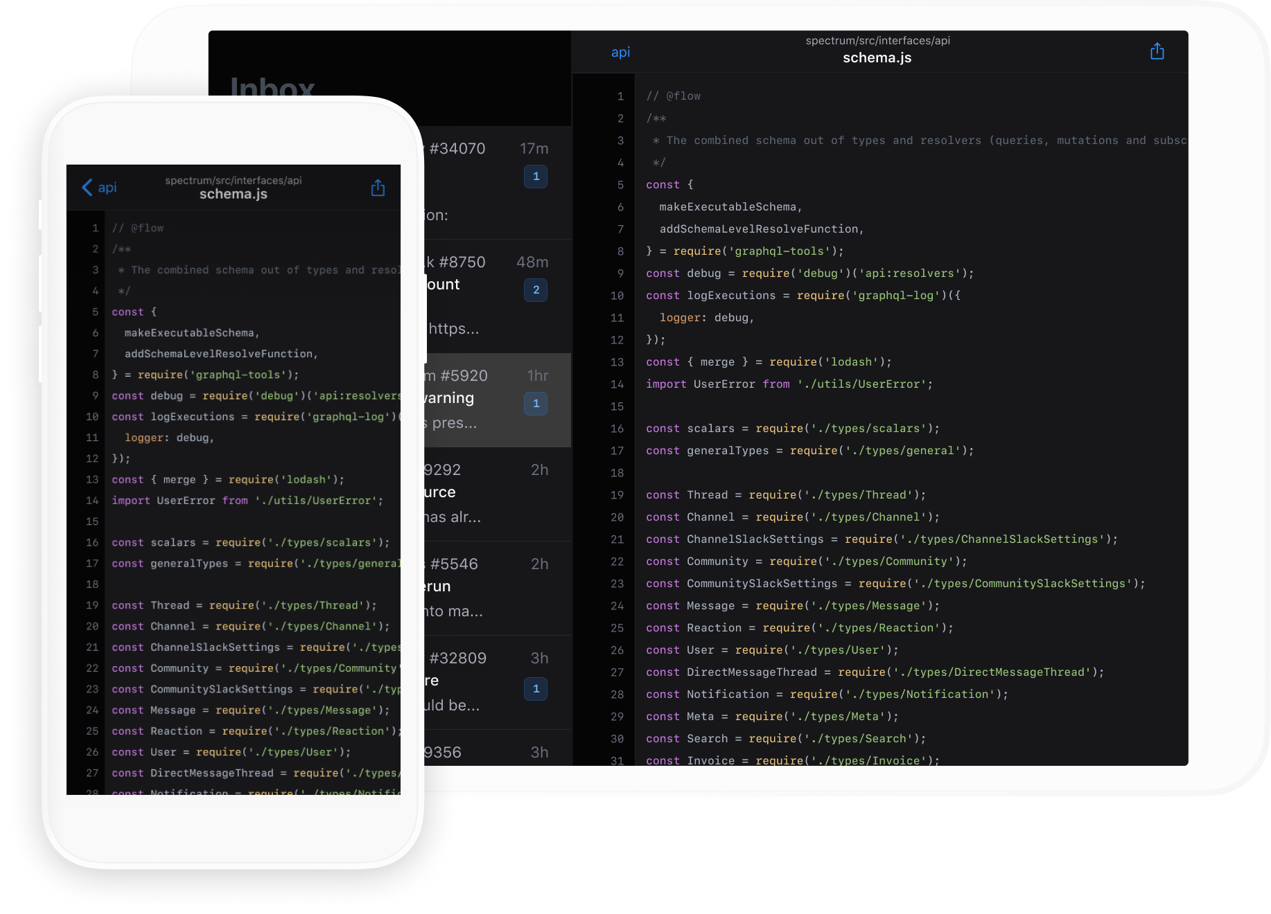 Mobile app on iPhone and iPad