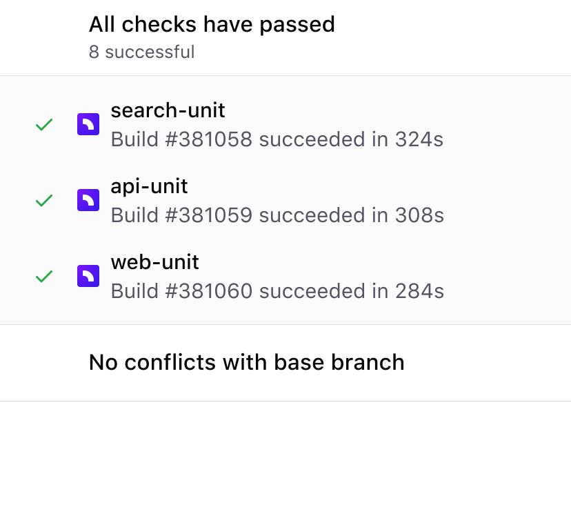 Pull request merge screen