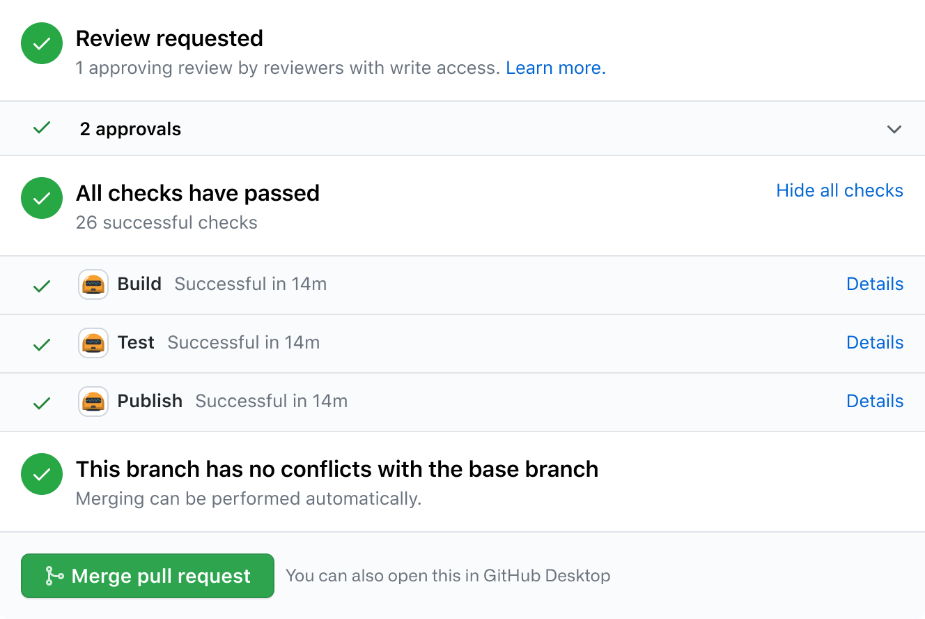 Merge pull request on GitHub
