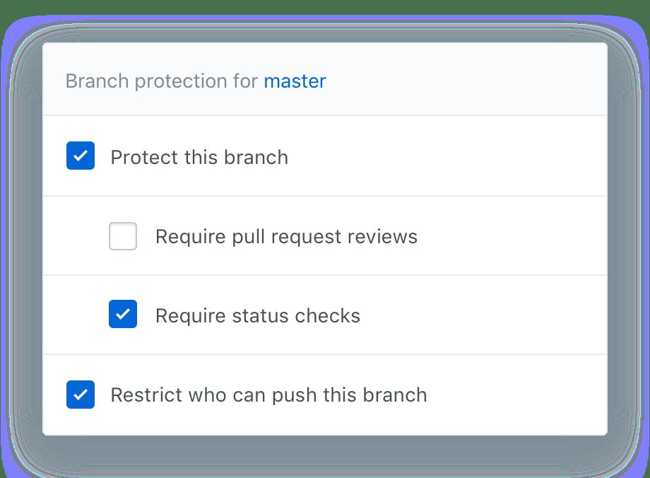 branch settings